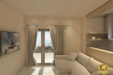 3Д-визуализация гостинной, Греция